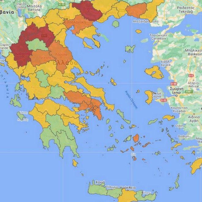 Κορονοϊός: Ο νέος χάρτης υγειονομικής ασφάλειας - Στο