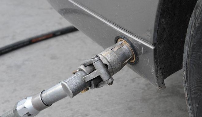 Ανεφοδιασμός αυτοκινήτου με υγραέριο