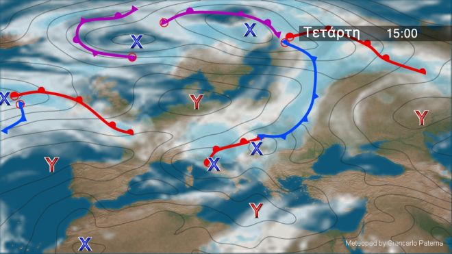 Καιρός: Τοπικές βροχές και μεμονωμένες καταιγίδες την Τετάρτη