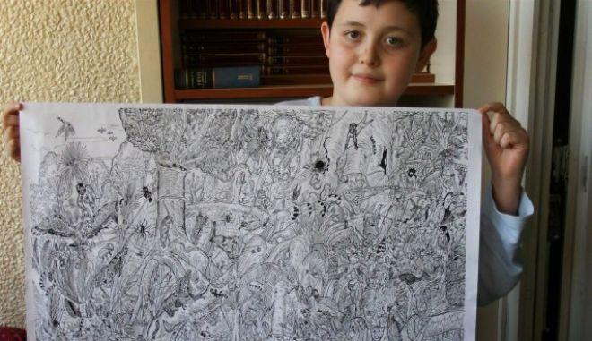 Ο 11χρονος Σέρβος που μαγεύει με το πινέλο του
