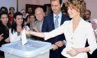 Φωτογραφία του ζεύγους Άσαντ στις εκλογές του 2014