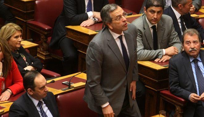 Ψηφοφορία για την εκλογή Προέδρου της Δημοκρατίας στην Βουλή την Τετάρτη 18 Φεβρουαρίου 2015. (EUROKINISSI/ΤΑΤΙΑΝΑ ΜΠΟΛΑΡΗ)