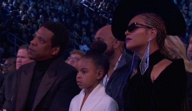 Grammys: Η 6χρονη κόρη της Beyonce και του Jay Z έδειξε ποιος είναι το αφεντικό στο σπίτι