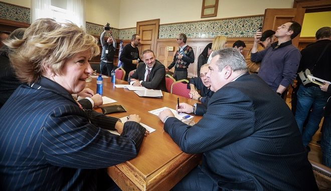 Συνεδρίαση της Κοινοβουλευτικής Ομάδας των Ανεξαρτητων Ελλήνων την Παρασκευή 11 Ιανουαρίου 2018, στην Βουλή.