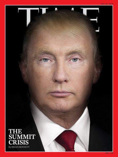 "To εξώφυλλο του ""Time"" τα λέει όλα για Τραμπ και Πούτιν"
