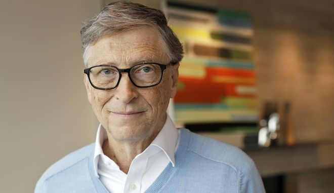 In this Feb. 1, 2018 photo, Microsoft co-founder Bill Gates, with his wife Melinda, poses for a photo before an interview with The Associated Press in Kirkland, Wash. The Gateses, as the world's top philanthropists, are rethinking their work in America as they confront what they consider their unsatisfactory track record on schools, the country's growing inequity and a president they disagree with more than any other. (AP Photo/Ted S. Warren)