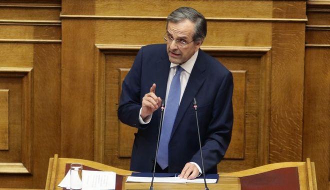 """Ο Πρ. Παυλόπουλος δεν έπρεπε να συγκατανεύσει σε μια """"συμφωνία-έκτρωμα"""", δήλωσε ο Σαμαράς"""