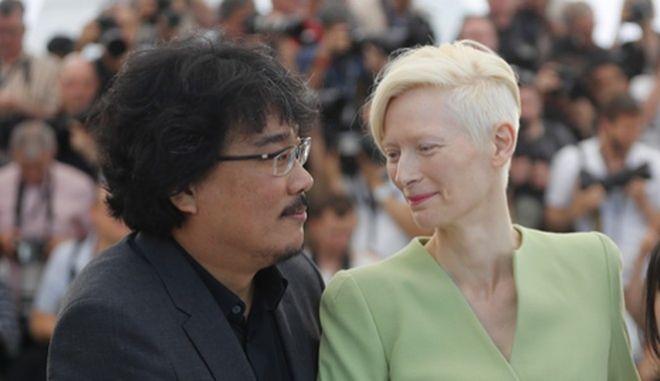 Tilda Swinton και Bong Joon Ho