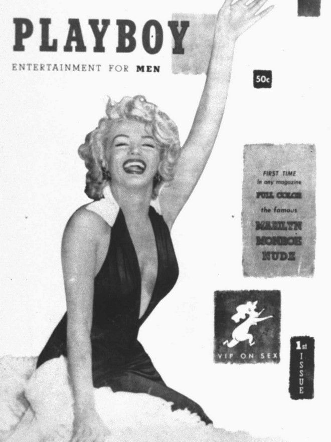 ** FILE ** STORY EMBARGOED UNTIL 6:01 PM EST ** Marilyn Monroe graced the cover and centerfold of the first edition of Playboy magazine in Dec. 1953. The curves of Playboy centerfold models have gradually flattened over the last 50 years, giving way to a more androgynous look, European researchers suggest. (AP Photo/HO, Playboy, Inc.) ORG XMIT: NY191 ORG XMIT: CHI0310170348441531 ...OUTSIDE TRIBUNE CO. -NO MAGS, NO SALES, NO INTERNET, NO TV... (Playboy magazine)