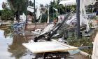 Εικόνα από τις καταστροφές στη Χαλκιδική από την κακοκαιρία