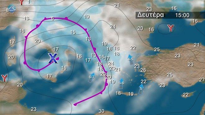 Καιρός: Έρχονται χαλαζοπτώσεις, καταιγίδες και ισχυροί άνεμοι