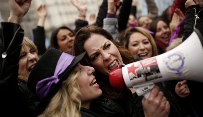 Φωτογραφία από την περσινή πορεία για την Παγκόσμια Ημέρα της Γυναίκας