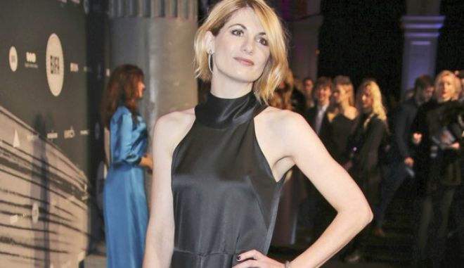 """FILE - In this file photo dated Sunday Dec. 4, 2016, British actress Jodie Whittaker poses for photographers upon arrival at the The British Independent Film Awards in London. The BBC has announced Sunday July 16, 2017,  Jodie Whittaker is the next star of the long-running science fiction TV series """"Doctor Who"""" set to become the first woman to take the leading title role. (FILE Photo by Joel Ryan/Invision/AP)"""
