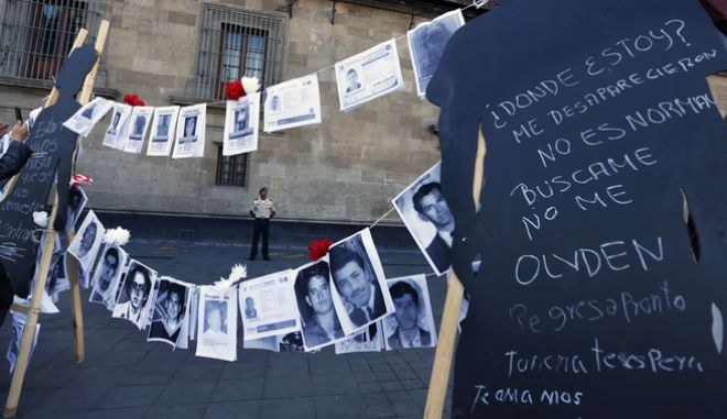 Φωτογραφίες αγνοουμένων στο Μεξικό