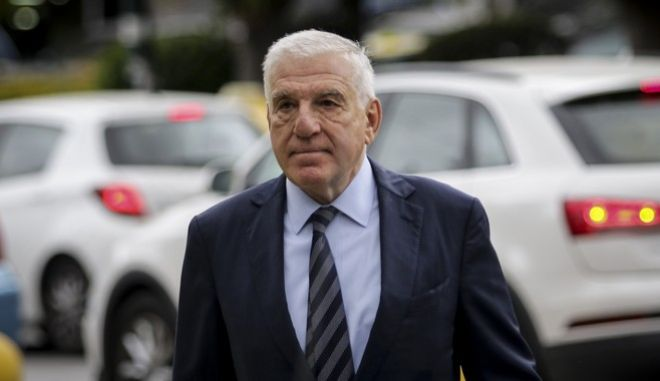 Ο πρώην υπουργός Εθνικής Άμυνας Γιάννος Παπαντωνίου στα δικαστήρια της Ευελπίδων