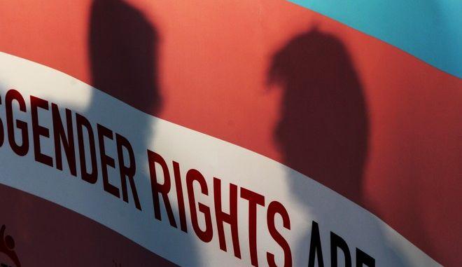 Ενόψη της συζήτησης για την διόρθωση φύλου συγκεντρώθηκαν το Σωματείο Υποστήριξης Διεμφυλικών, η Colour Youth β Κοινότητα LGBTQ Νέων Αθήνας, Διεθνής Αμνηστία και το AllOut έξω από τη βουλή σήμερα Δεευτέρα 9 Οκτωβρίου 2017 (EUROKINISSI//ΣΩΤΗΡΗΣ ΔΗΜΗΤΡΟΠΟΥΛΟΣ)