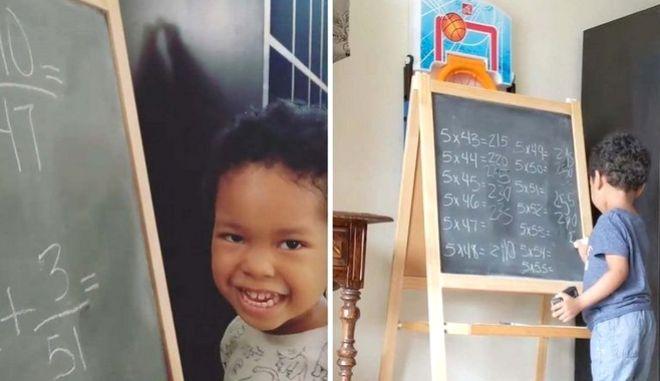 Πανέξυπνο 3χρονο αγοράκι λύνει μαθηματικές πράξεις που δυσκολεύουν ακόμη και μεγάλους
