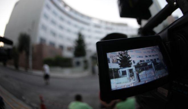 Στιγμιότυπο από την Γενική Γραμματεία Ενημέρωσης κατα την διάρκεια της δημοπρασίας των τηλεοπτικών αδειών την Πέμπτη 1 Σεπτεμβρίου 2016. (EUROKINISSI/ΠΑΝΑΓΟΠΟΥΛΟΣ ΓΙΑΝΝΗΣ)