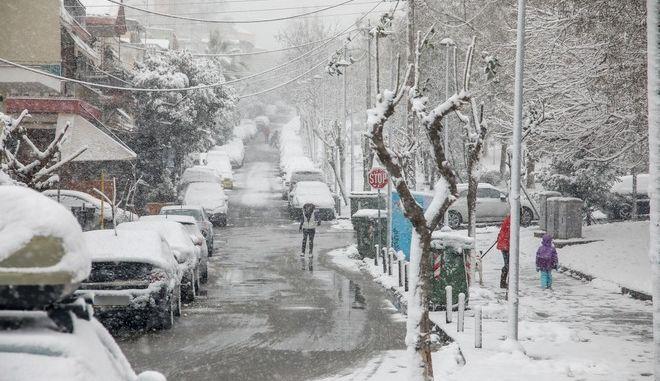 Χιόνια στη Θεσσαλονίκη τον Ιανουάριο του 2021
