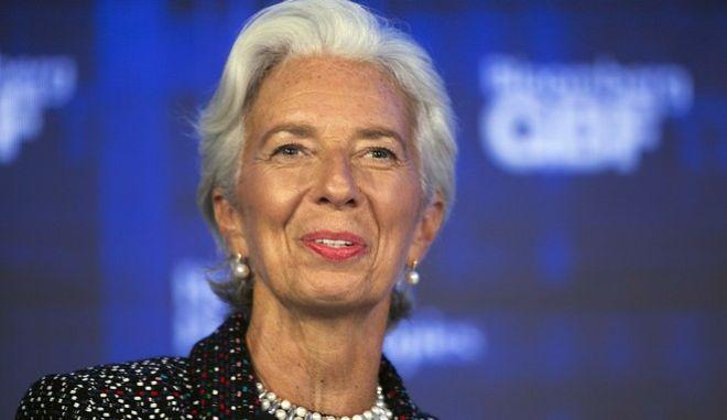 International Monetary Fund managing director Christine Lagarde speaks at the Bloomberg Global Business Forum, Wednesday, Sept. 20, 2017, in New York. (AP Photo/Mark Lennihan)