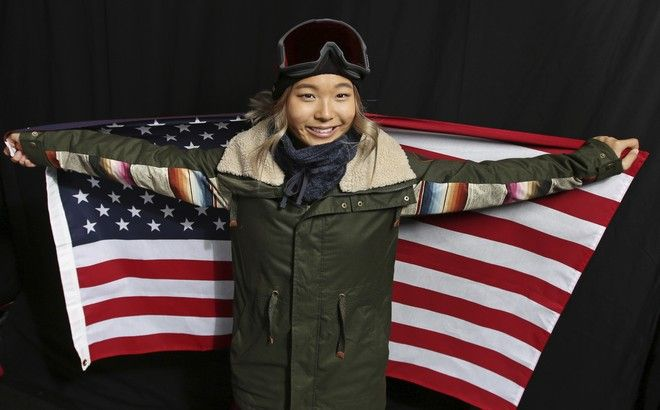 United States Olympic Winter Games Snowboarder Chloe Kim poses for a portrait at the 2017 Team USA Media Summit Monday, Sept. 25, 2017, in Park City, Utah. (AP Photo/Rick Bowmer)