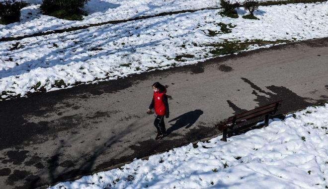 Χιόνια στη Λάρισα.