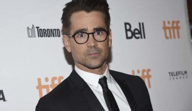 """Colin Farrell attends a premiere for """"The Killing of a Sacred Deer"""" on day 3 of the Toronto International Film Festival at the Elgin Theatre on Saturday, Sept. 9, 2017, in Toronto. (Photo by Evan Agostini/Invision/AP)"""