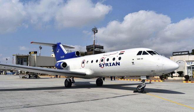 Λειτούργησε το διεθνές αεροδρόμιο του Χαλεπιού για πρώτη φορά μετά το 2012