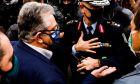 O Γ.Γ του ΚΚΕ Δ. Κουτσουμπας, αποκλεισμενος απο Αστυνομικες δυναμεις στην επέτειο του Πολυτεχνείου
