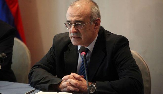 Υπογραφή πρωτοκόλλου της 5ης Μεικτής Διυπουργικής Επιτροπής Ελλάδος-Αρμενίας από τον ΥΦΥΠΕΞ, Δημήτρη Μάρδα και τον Αρμένιο ομόλογό του Garen Nazarian, την Παρασκευή 4 Μαρτίου 2016.  (EUROKINISSI/ΑΛΕΞΑΝΔΡΟΣ ΖΩΝΤΑΝΟΣ)