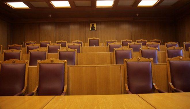 Πανηγυρική συνεδρίαση του ΣτΕ για την αποχώρηση του προέδρου Σωτήρη Ρίζου την Παρασκευή 5 Ιουνίου 2015. (EUROKINISSI/ΓΙΑΝΝΗΣ ΠΑΝΑΓΟΠΟΥΛΟΣ)