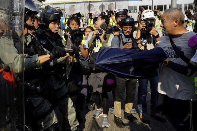 Ένταση σε διαδήλωση στο Χονγκ Κονγκ