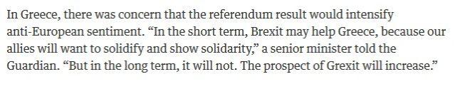 Μάρδας: Καμία σύνδεση Brexit με Grexit