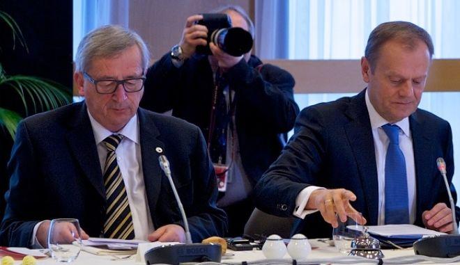 Σύνοδος Κορυφής των ηγετών της Ευρωπαϊκής Ένωσης για το προσφυγικό στις Βρυξέλλες την Δευτέρα 7 Μαρτίου 2016. (EUROKINISSI/ΕΥΡΩΠΑΪΚΗ ΕΝΩΣΗ)