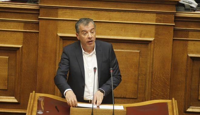 ΑΘΗΝΑ-ΒΟΥΛΗ-Προ ημερησίας διάταξης συζήτηση στη Βουλή για θέματα της Δικαιοσύνης. Την πρωτοβουλία για τη συζήτηση των πολιτικών αρχηγών είχε αναλάβει με επιστολή του προς τον πρόεδρο της Βουλής, Νίκο Βούτση, ο Πρωθυπουργός Αλέξης Τσίπρας// ΣΤΗ ΦΩΤΟΓΡΑΦΙΑ  Ο ΣΤΑΥΡΟΣ ΘΕΟΔΩΡΑΚΗΣ ΠΟΤΑΜΙ.(Eurokinissi- ΚΟΝΤΑΡΙΝΗΣ ΓΙΩΡΓΟΣ)