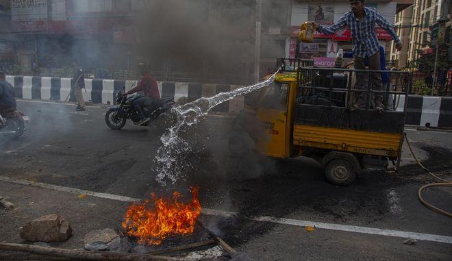 Ινδία διαδηλωτές