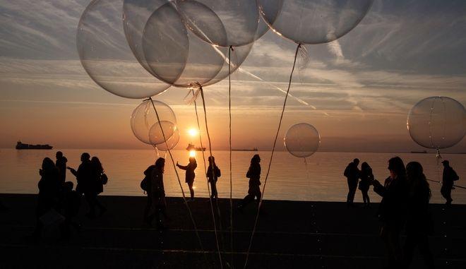 Ηλιοβασίλεμα στη Θεσσαλονίκη