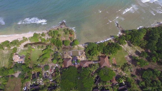 Αεροφωτογραφία από την περιοχή που χτύπησε το τσουνάμι στην Ινδονησία