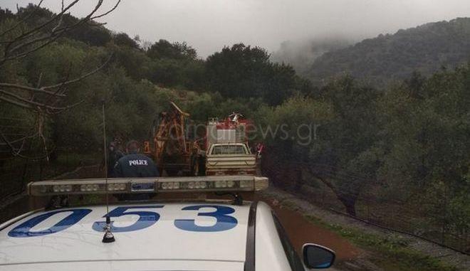 Θρίλερ με αγνοούμενο στην Κρήτη που παρασύρθηκε από χείμαρρο - Εντοπίστηκε το όχημα του