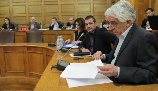 """με θέμα ημερήσιας διάταξης: Επεξεργασία και εξέταση του σχεδίου νόμου του υπουργείου Δικαιοσύνης, Διαφάνειας και Ανθρωπίνων Δικαιωμάτων """"Σύμφωνο συμβίωσης, άσκηση δικαιωμάτων, ποινικές και άλλες διατάξεις"""" στην Επιτροπή Δημόσιας Διοίκησης, Δημόσιας Τάξης και Δικαιοσύνης της Βουλής την Δευτέρα 14 Δεκεμβρίου 2015. (EUROKINISSI/ΓΙΑΝΝΗΣ ΠΑΝΑΓΟΠΟΥΛΟΣ)"""
