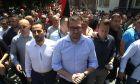 Ο επικεφαλής του VMRO-DPMNE Hristijan Mickoski σε διαδήλωση κατά της Συμφωνίας των Πρεσπών
