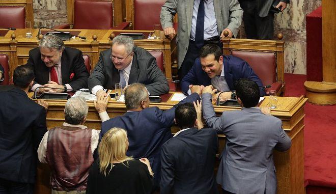 Τρίτη ημέρα της συζήτησης στην Ολομέλεια της Βουλής της πρότασης μομφής που κατέθεσε η ΝΔ εναντίον της κυβέρνησης το Σάββατο 16 Ιουνίου 2018.