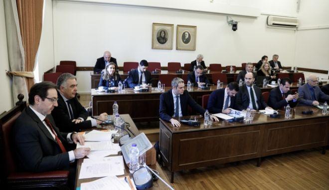 Συνεδρίαση της Ειδικής Κοινοβουλευτικής Επιτροπής προς διενέργεια προκαταρκτικής εξέτασης σχετικά με τη διερεύνηση αδικημάτων που τυχόν έχουν τελεσθεί από τον πρώην Αναπληρωτή Υπουργό Δικαιοσύνης Δημήτρη Παπαγγελόπουλο.