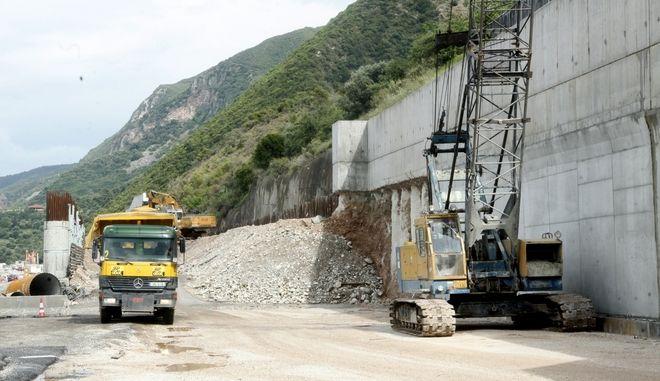 Έργα για την κατασκευή αυτοκινητόδρομου (φωτογραφία αρχείου)