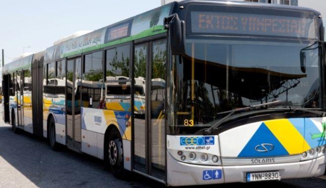 Φωτιά σε λεωφορείο στην Ποσειδώνος