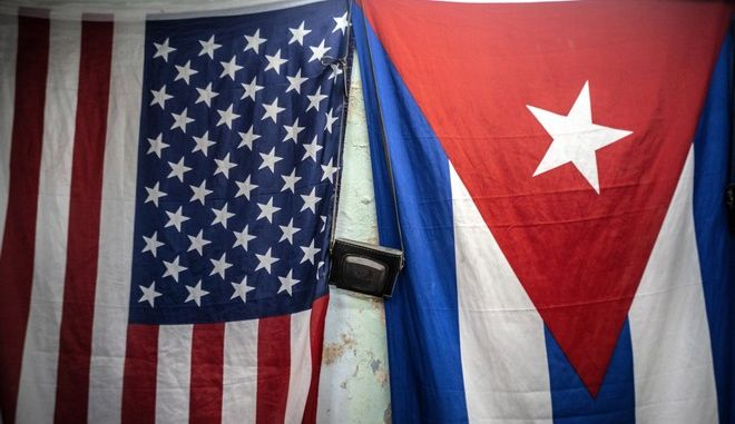 Οι σημαίες των ΗΠΑ-Κούβας