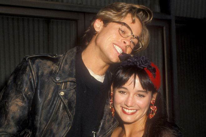 Brad Pitt and Jill Schoelen (Photo by Barry King/WireImage)