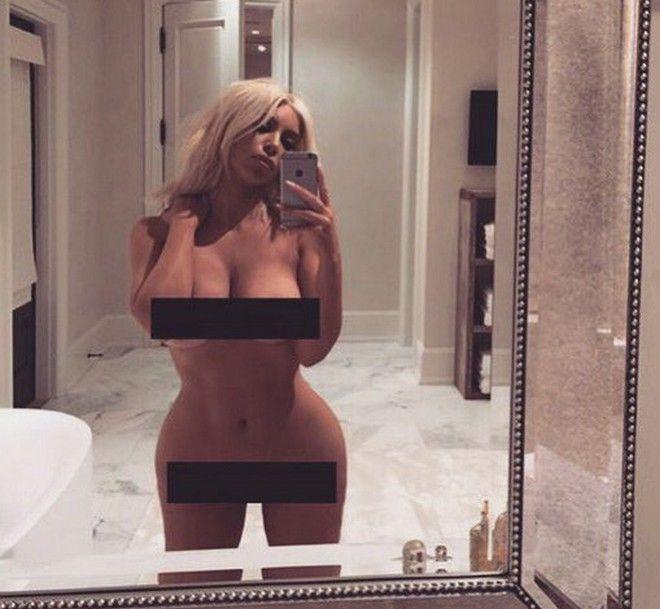 Η γυμνή selfie της Κιμ Καρντάσιαν άναψε φωτιές στο ίντερνετ