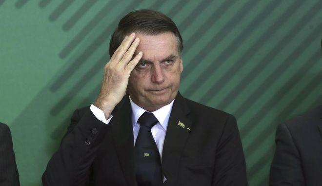 Ο πρόεδρος της Βραζιλίας Ζαΐχ Μπολσονάρου