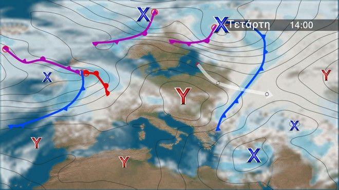 Ο καιρός στην Ευρώπη την Τετάρτη